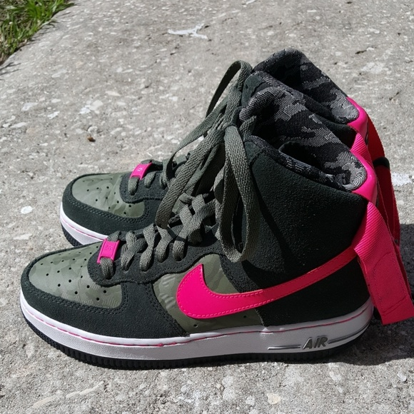 Hot pink!!! Nike air force one high tops